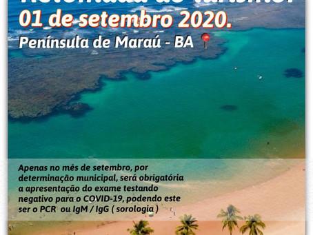Maraú decreta reabertura gradual a partir de 01 de setembro