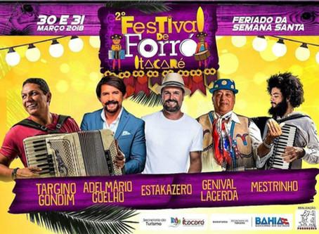 Mais de 15 atrações já confirmadas para o II Festival de Forró de Itacaré