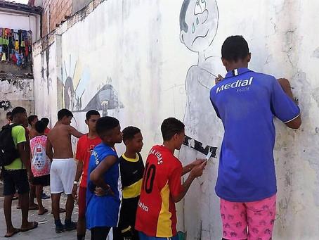 Projeto em Itacaré reúne esporte, arte, educação e cidadania na escola