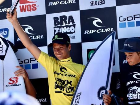 Itacareense desponta na nova geração do surf nacional