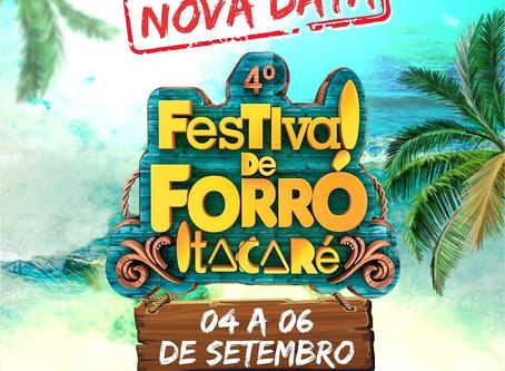 Festival de Forró de Itacaré tem nova data