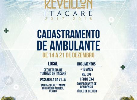 Prefeitura realizará cadastramento ambulantes para o reveillon de Itacaré