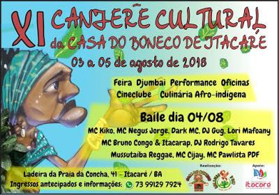 XI Canjerê Cultural da Casa do Boneco - 03 a 05 de agosto