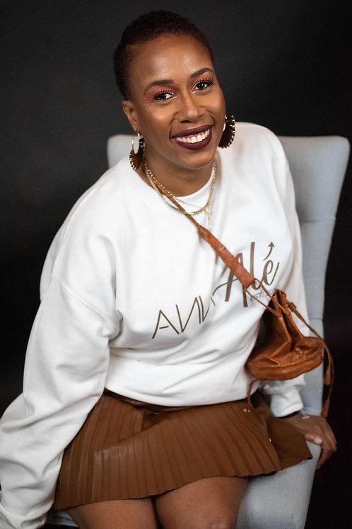 White Crewneck Ann Alé