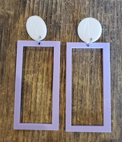 Doudou Zanno - White and lilac rectangles