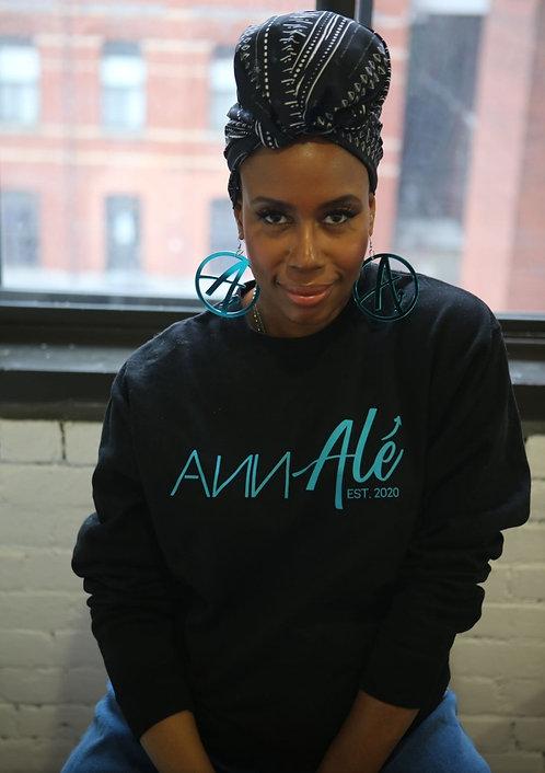 Black Ann Alé Crewneck