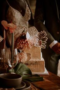 Boho naked cake/Gateaux - Sucre brun