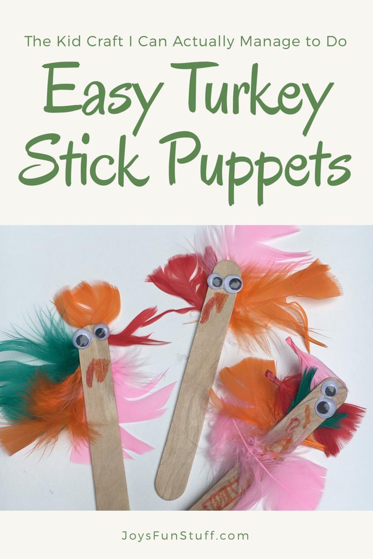 easy thanksgiving turkey craft
