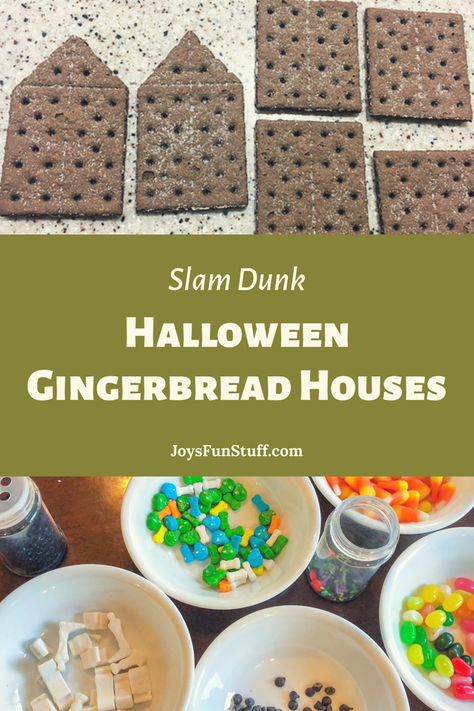 Halloween Gingerbread Houses are Awesome Fun (even when you cut the crackers wrong)