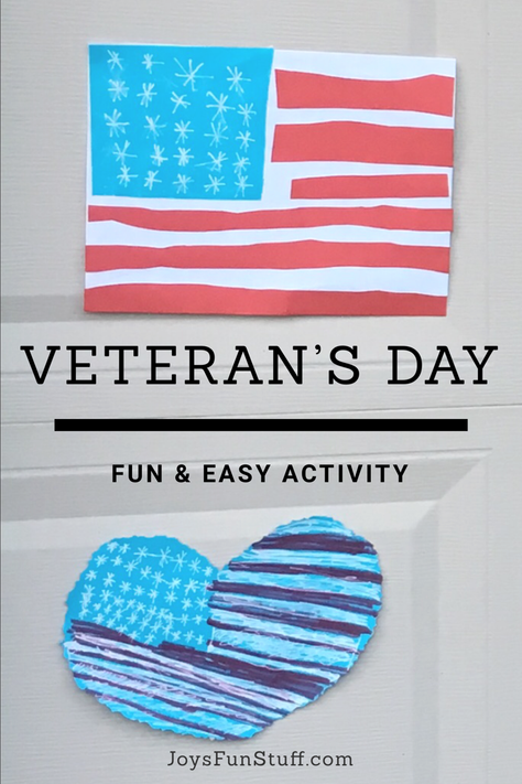 Super Easy & Fun Way to Celebrate Veteran's Day (and it doesn't cost a thing!)