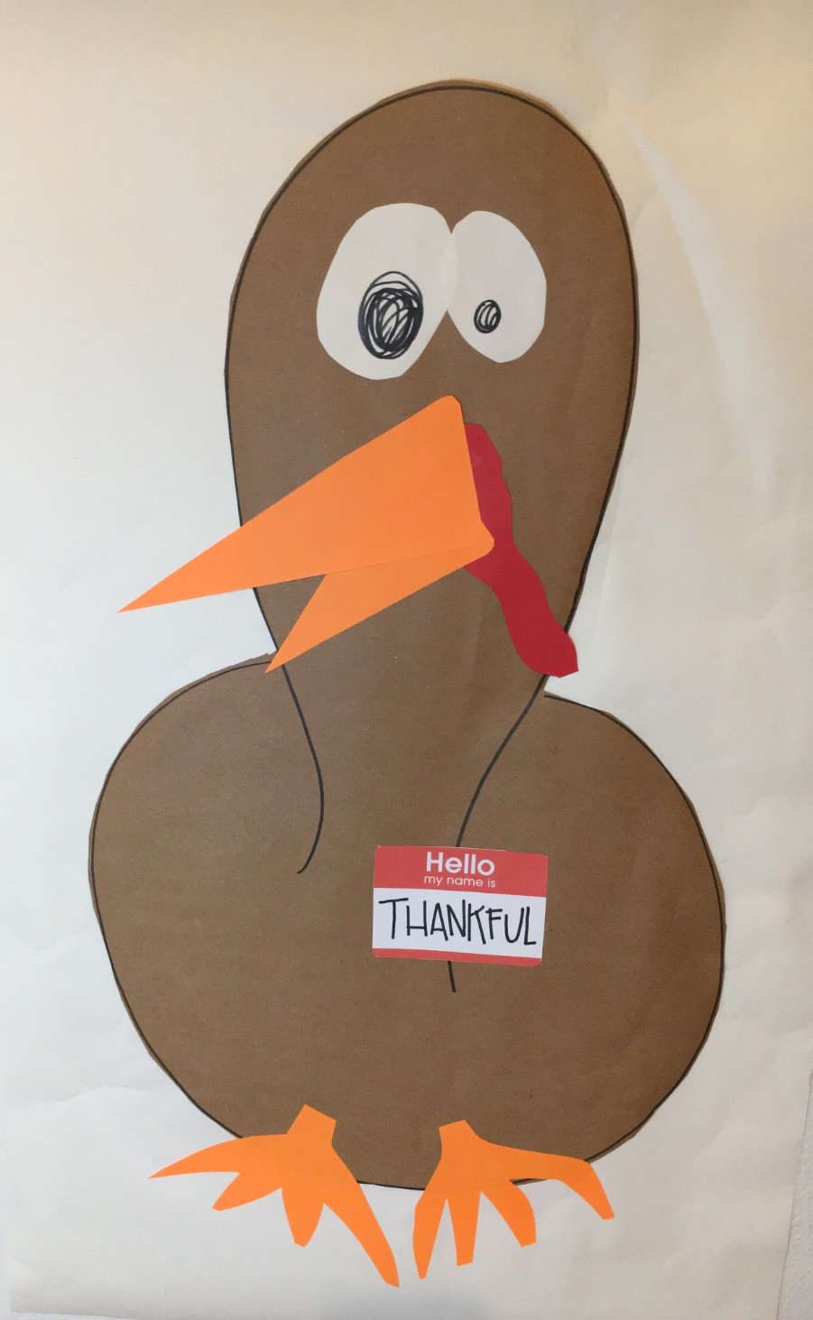 Thanksgiving gratitude turkey