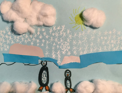 Child Directed Winter Art