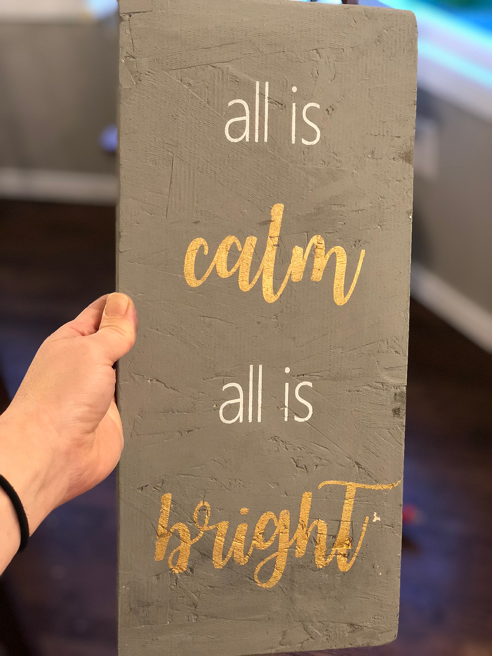 wood sign with the cricut