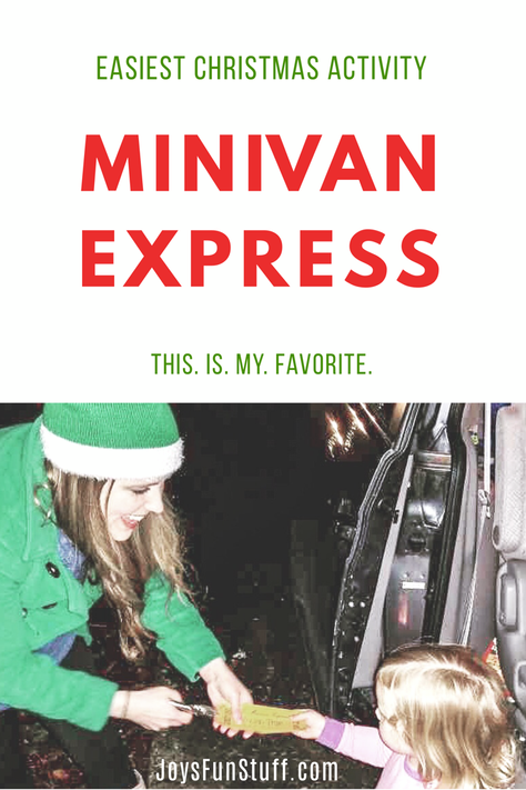 EASY Minivan Express- You. Will. Love. This. (and so will your kids!)