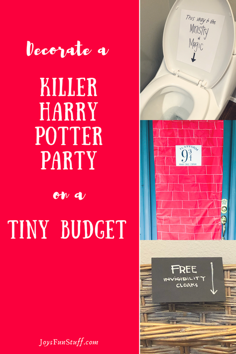 Decorate a Killer Harry Potter Party on a Tiny Budget