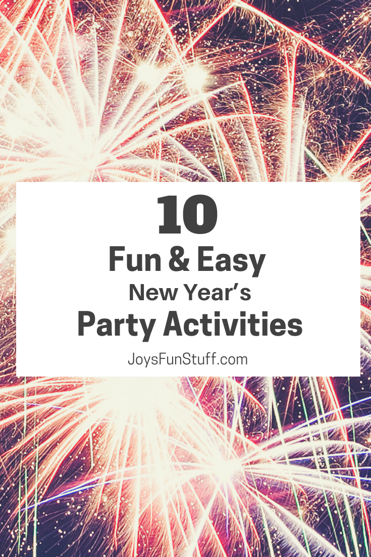 fun and easy new year's party activities
