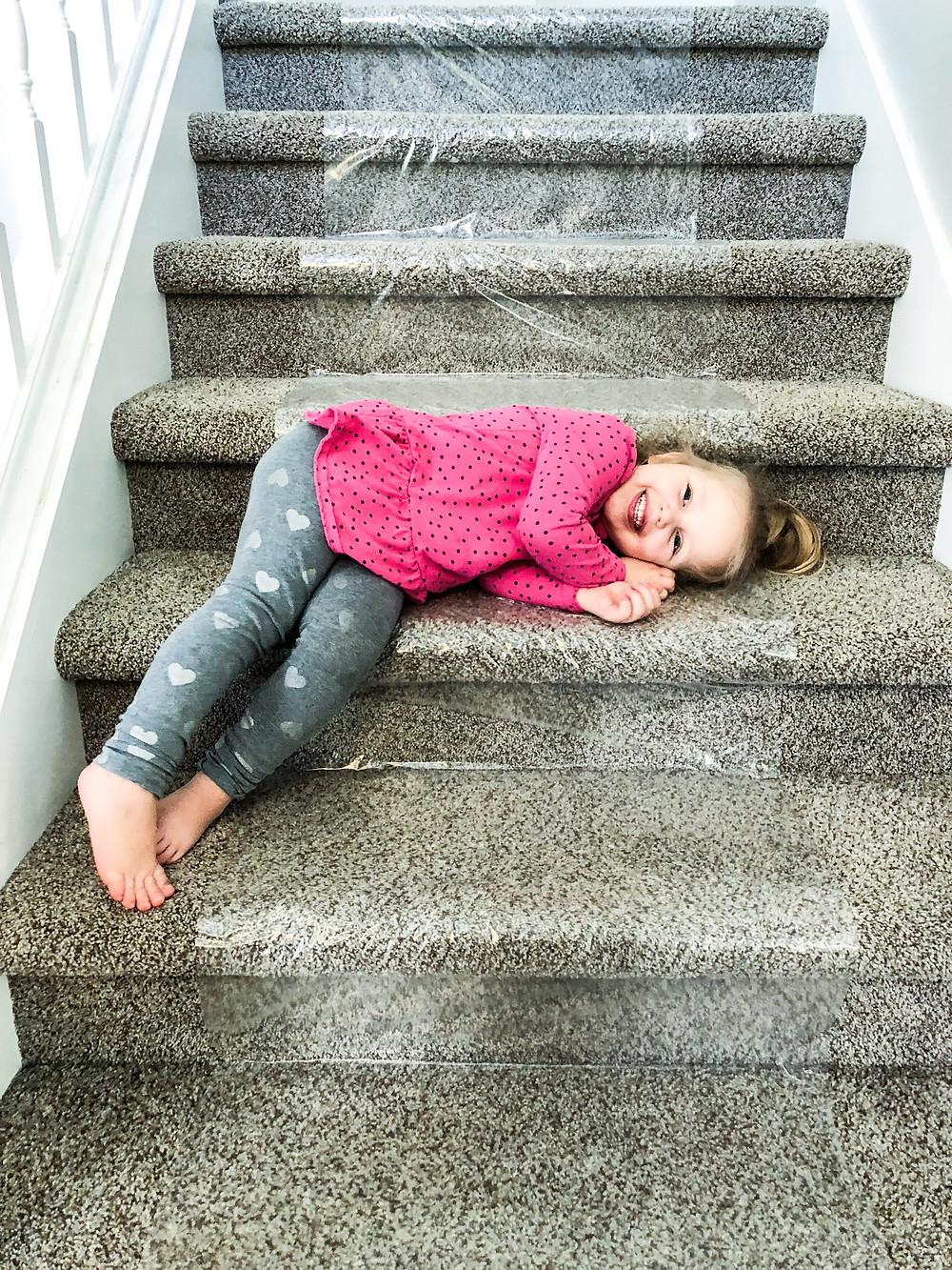 carpet film on stairs