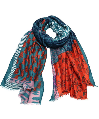 Rust Holly Goes To India Scarf