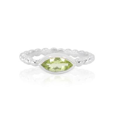 Toni May - Olivia Peridot Stacker Ring