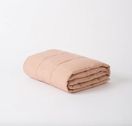 Citta Design Linen Quilted Blanket - Iced Tea
