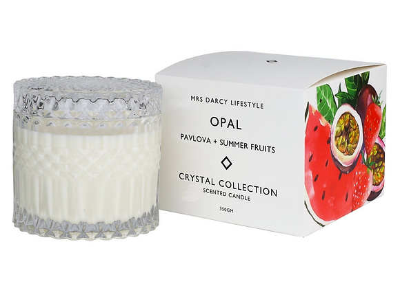 Mrs Darcy - Opal Soy Candle - Pavlova & Summer Fruits