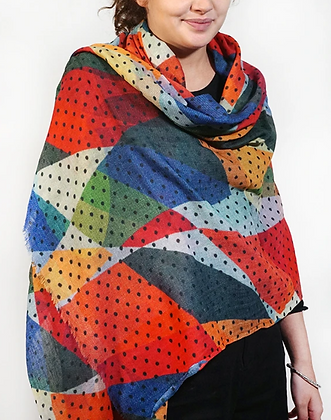 Wool Shapes and Dots Scarf