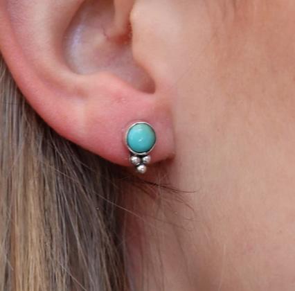 Toni May - Summer Rain Turquoise Stud Earrings