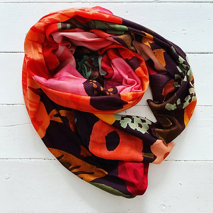 Wool Painted Garden Scarf