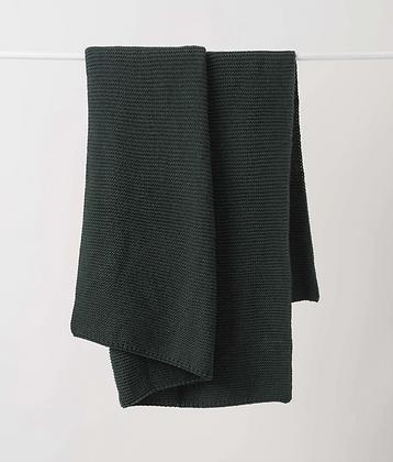 Citta Design Purl Knit Wool Throw - Nori
