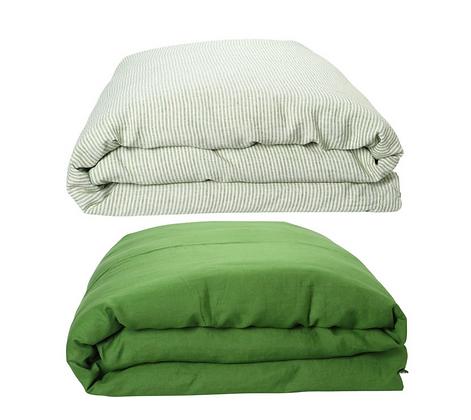 Kip & Co - St Barts Stripe Linen Quilt Cover