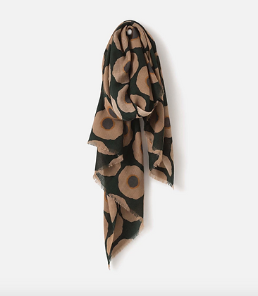 Citta Design Sunflower Wool Scarf W/Fringe