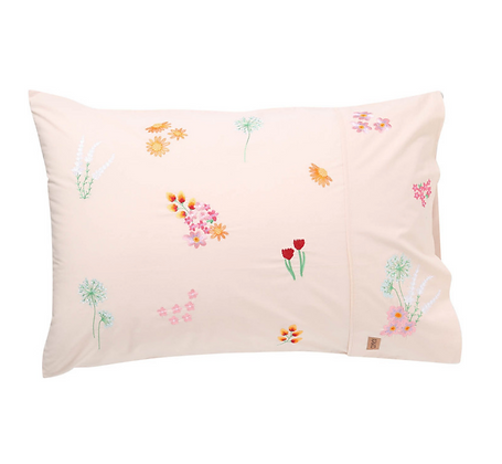 Kip & Co - Wild Flower Embroidered Cotton Quilt Cover
