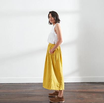 Montaigne Paris - Linen Culottes Acid Yellow