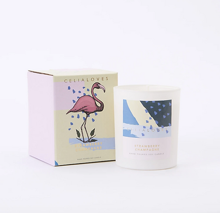 Celia Loves - Strawberry Champagne 40hr Candle