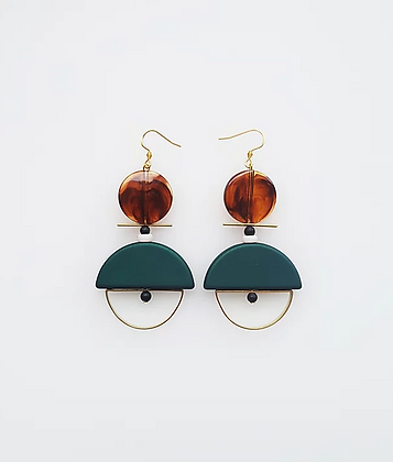 Middle Child - Diego Earrings Green