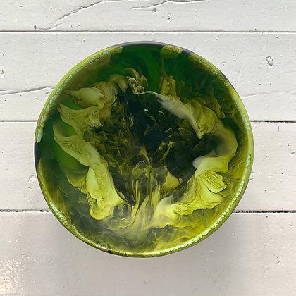Dinosaur Designs - Resin Large Salad Bowl - Malachite Swirl