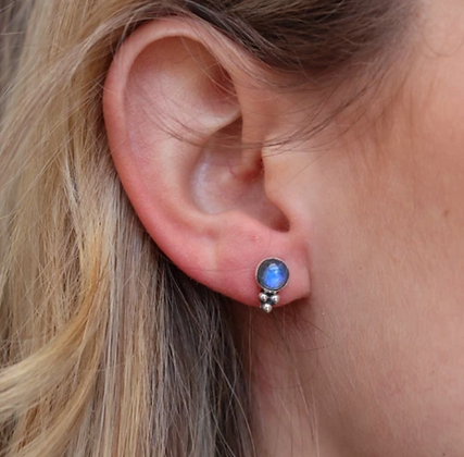 Toni May - Summer Rain Moonstone Stud Earrings