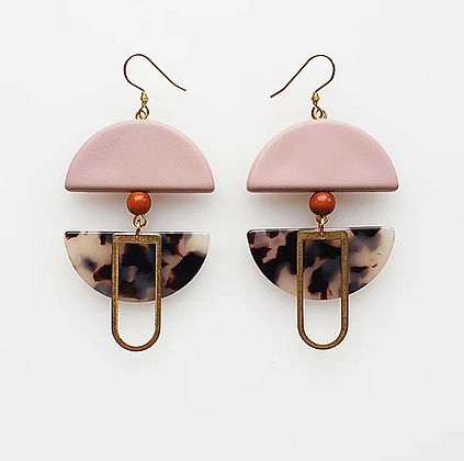 Middle Child - Helm Earrings Pink