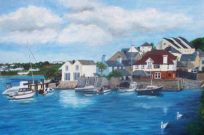 Hooe Lake original painting