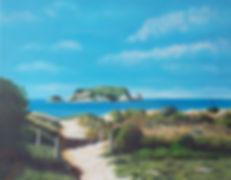 Painting Coromandel coast