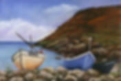 Painting of Cornish Fishing boats