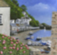 Landscape painting, Polperro, Cornwall