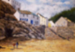Landscape painting Polperro Cornwall