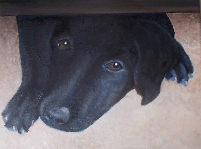 painting dog looking under doorWhats going on sm.jpg