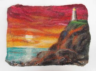 Lighthouse at sunse sm felt.jpg