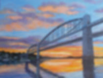 Painting Tamar bridges Cornwall