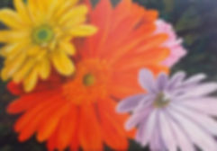 Original close up painting of flowers