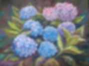 Painting of hydrangeas