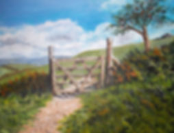 Landscape painting Dartmoor Devon