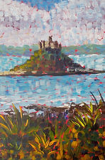 St Michaels Mount painting in acrylics